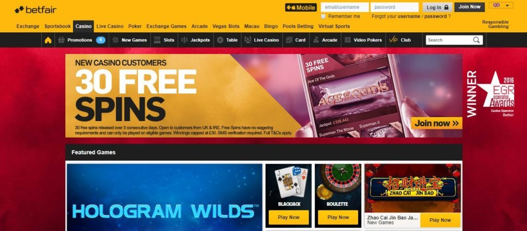 Betfair Casino Offer