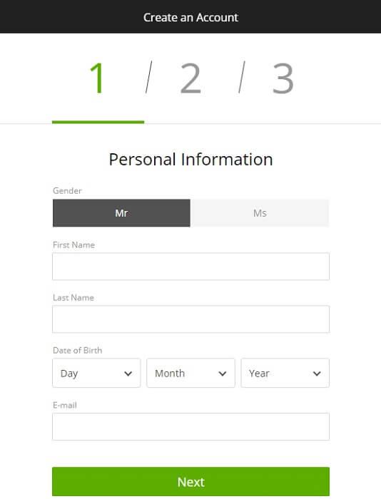 DraftKings Registration Form