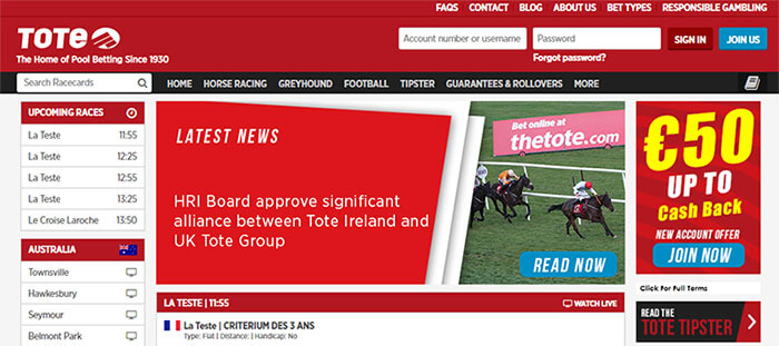 Homepage Tote Ireland
