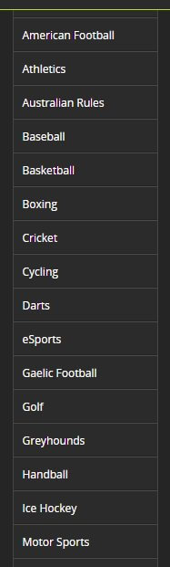 Totesport Sport Betting Options